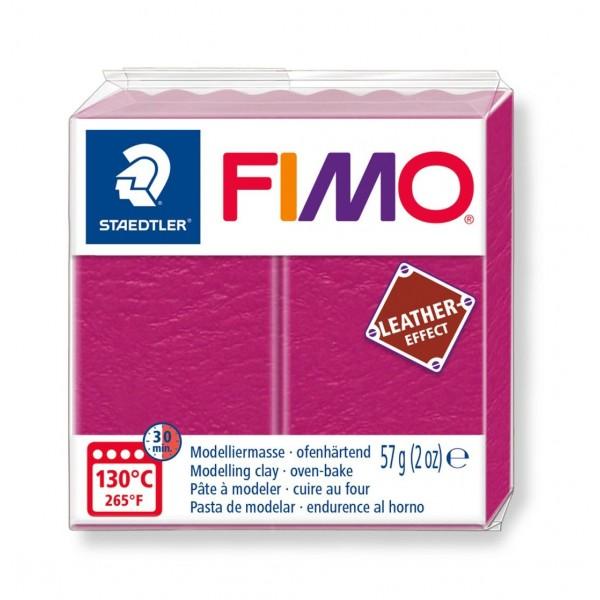 Polimērmāls FIMO Leather-Effect, rozā 229
