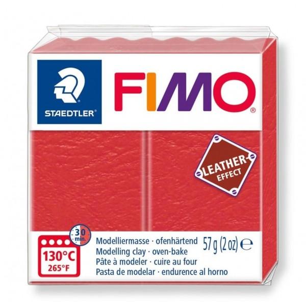 Polimērmāls FIMO Leather-Effect, sarkans arbūzs 249