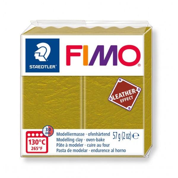 Polimērmāls FIMO Leather-Effect, olīvzaļš 519