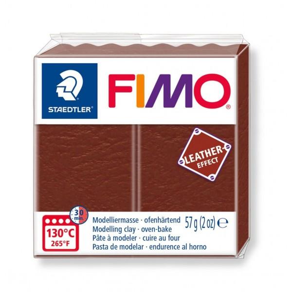 Polimērmāls FIMO Leather-Effect, tumši brūns 779