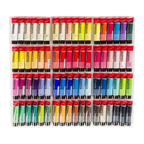 Akrila krāsu komplekts Amsterdam, 72 krāsas General Selection