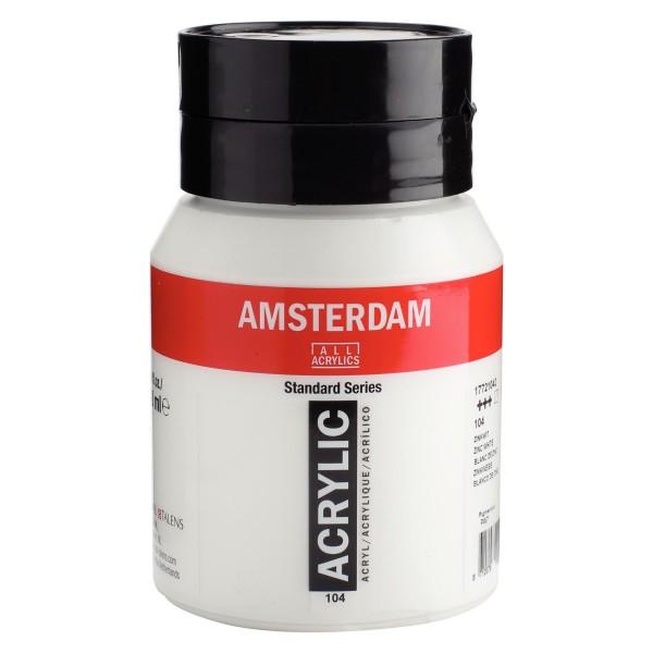 Akrila Krāsa Amsterdam Zinc White 104 ; 500 ml