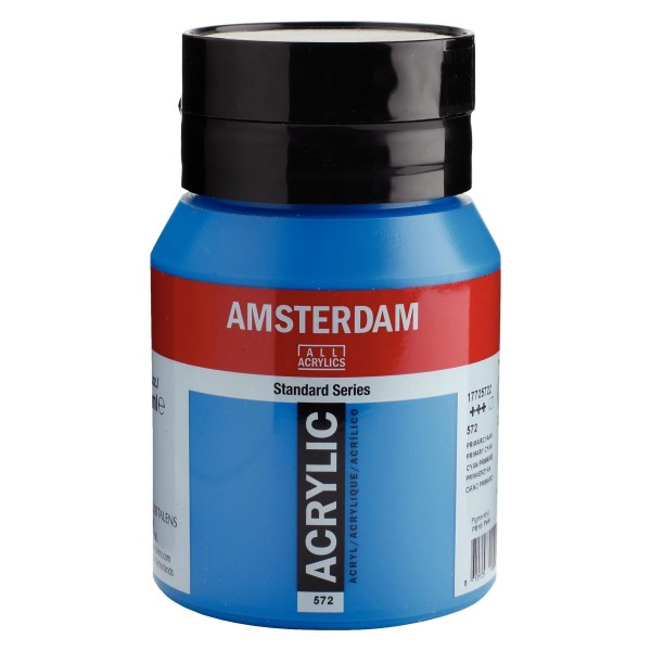 Akrila Krāsa Amsterdam  Primary cyan 572;  500 ml