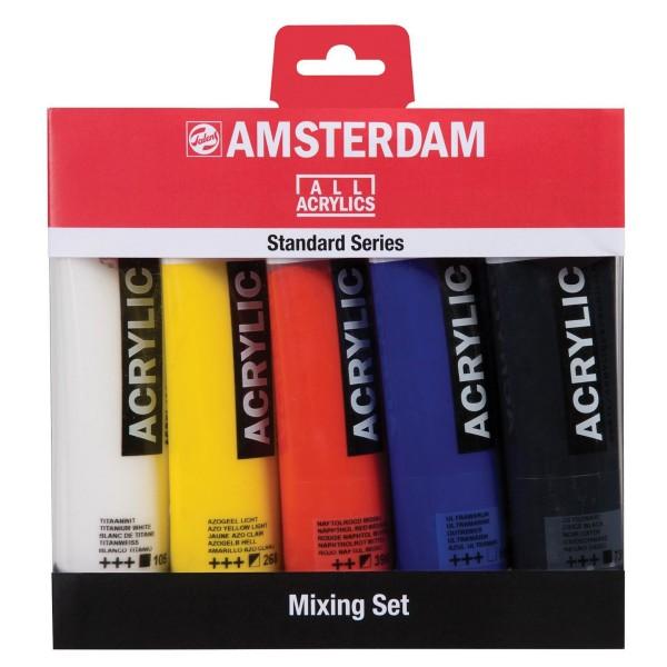 Akrila krāsu komplekts Amsterdam, 5 x 120 ml; Mixing Set