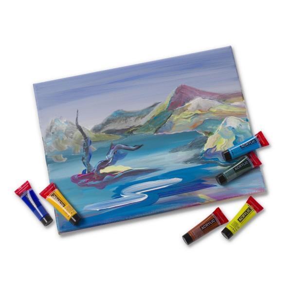 Akrila krāsu komplekts Amsterdam, 12 krāsas 20 ml, Landscape