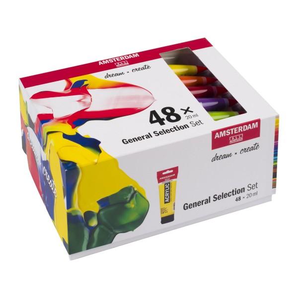 Akrila krāsu komplekts Amsterdam, 48 krāsas General Selection