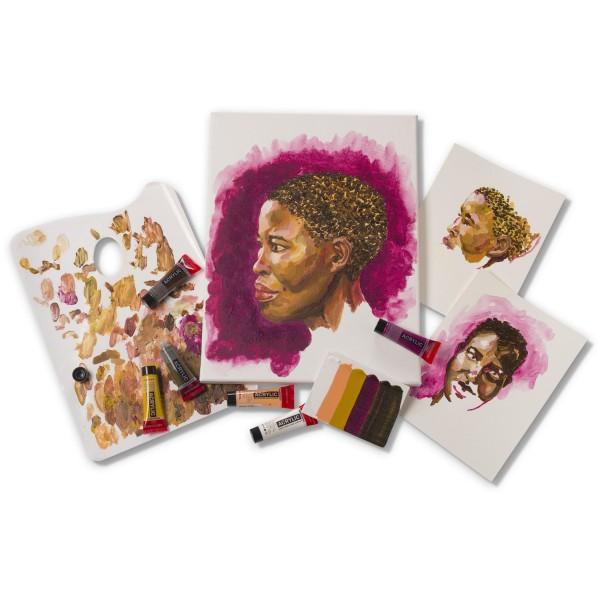 Akrila krāsu komplekts Amsterdam, 6 krāsas, 20ml Portrait