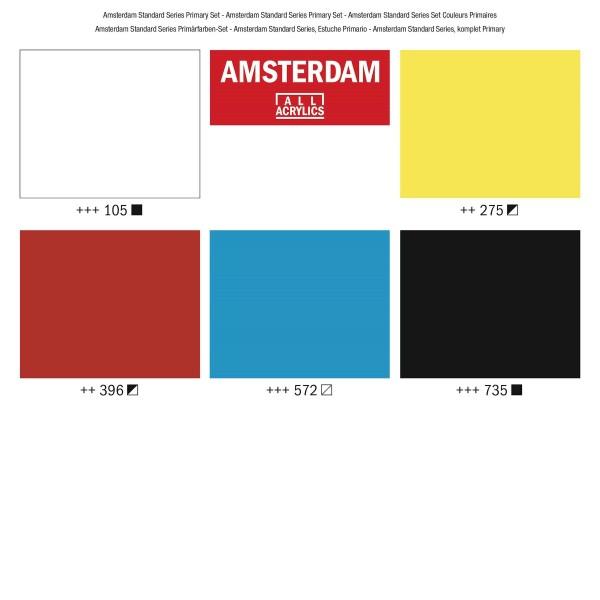 Akrila krāsu komplekts Amsterdam, 5 x 120 ml; Primary Set