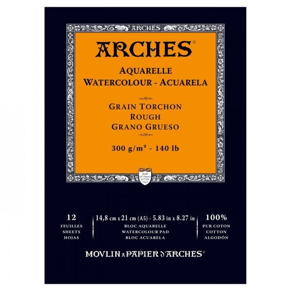 Akvareļu albums  Arches  14,8 x 21 cm;  300 gr/m; rough 100 % kokvilna