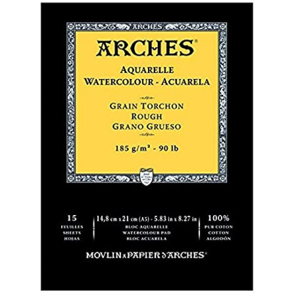 Akvareļu albums  Arches  14,8 x 21 cm;  185 gr/m ; Rough 100 % kokvilna