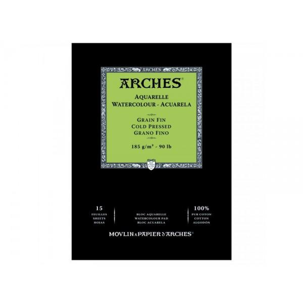 Akvareļu albums  Arches  14,8 x 21 cm; 185 gr/m ; cold pressed 100 % kokvilna