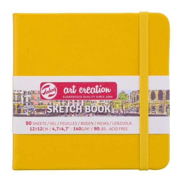 Art Creation Skiču Bloks cietos vākos,  Golden Yellow, 12x12 cm