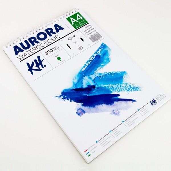 Akvareļu albums Aurora A4 ar spirāli; rough