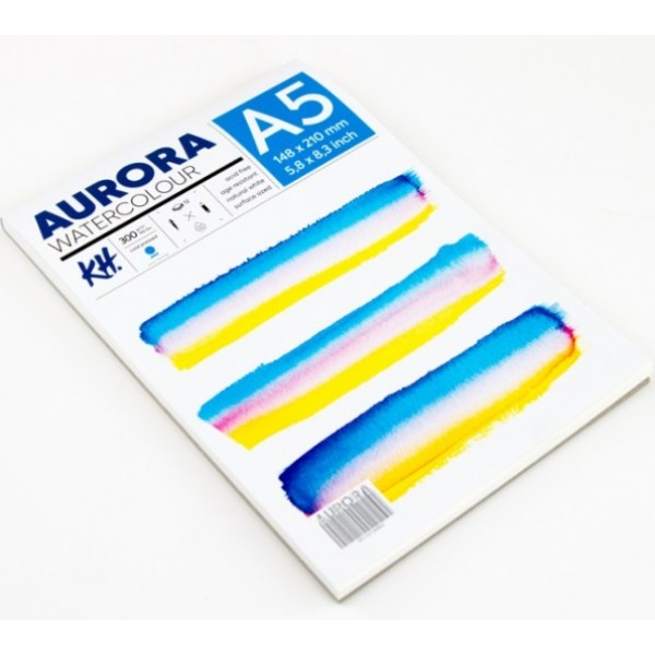 Akvareļu albums Aurora A5 ar spirāli ; cold pressed