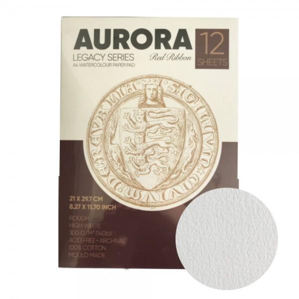 Akvareļu albums Aurora A5 vertikāls , 100 % kokvilna, rough