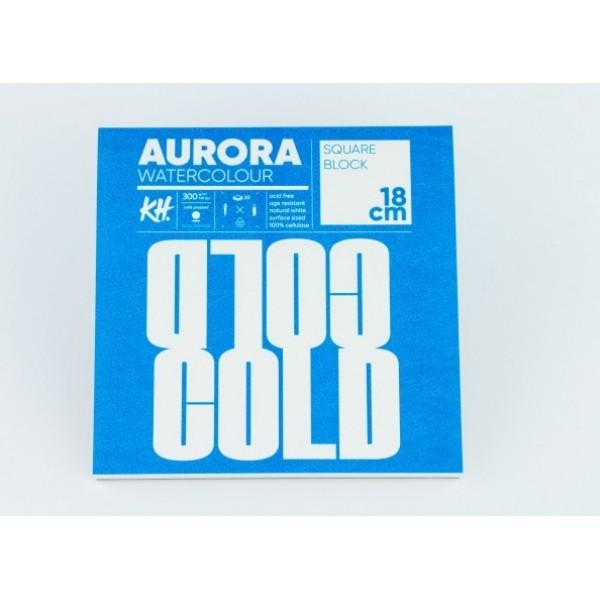 Akvareļu albums Aurora 18x18 cm, cold pressed