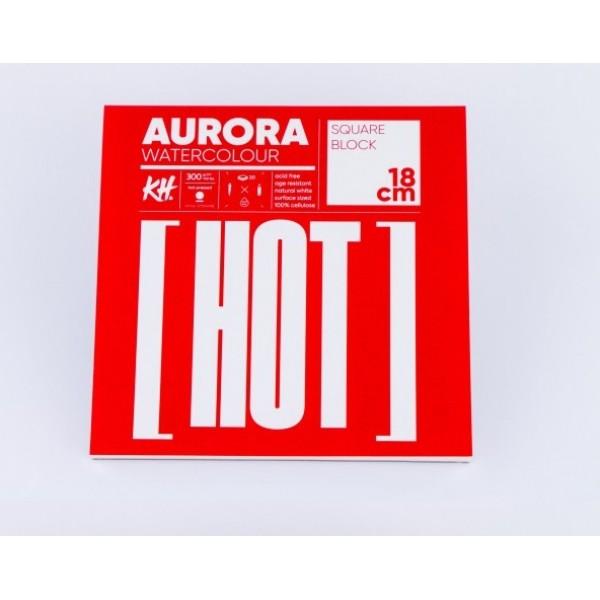 Akvareļu albums Aurora 18x18 cm, hot pressed