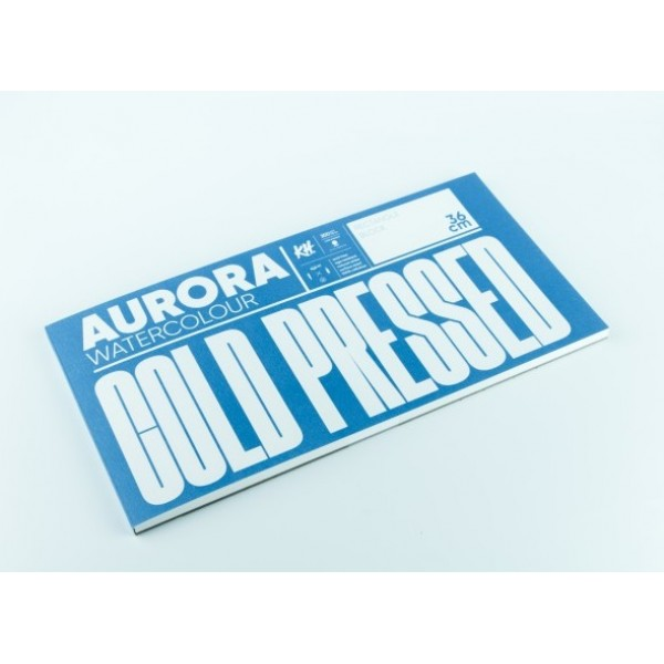 Akvareļu albums Aurora 18x36 cm; cold pressed