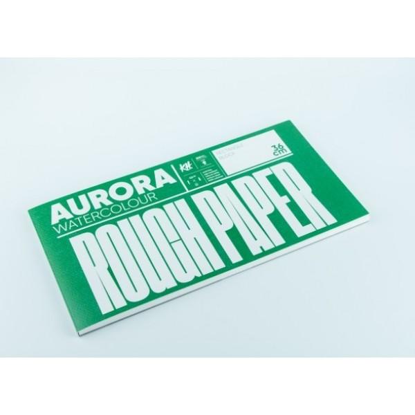 Akvareļu albums Aurora 18x36 cm; rough