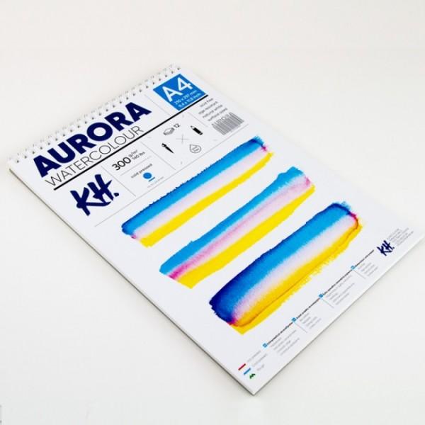 Akvareļu albums Aurora A4 ar spirāli; cold pressed