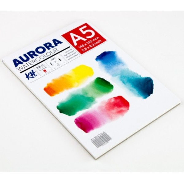 Akvareļu albums Aurora A5 ; hot pressed