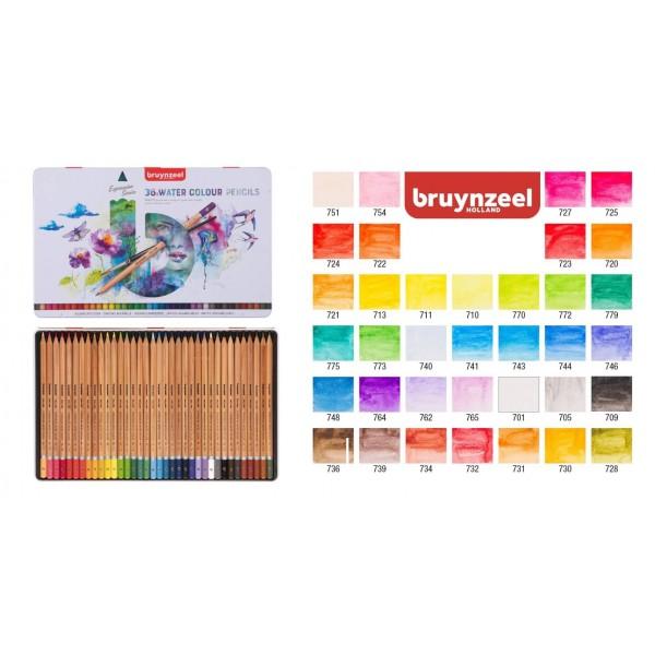 Akvareļzīmuļi Bruynzeel Expression 36 Krāsas