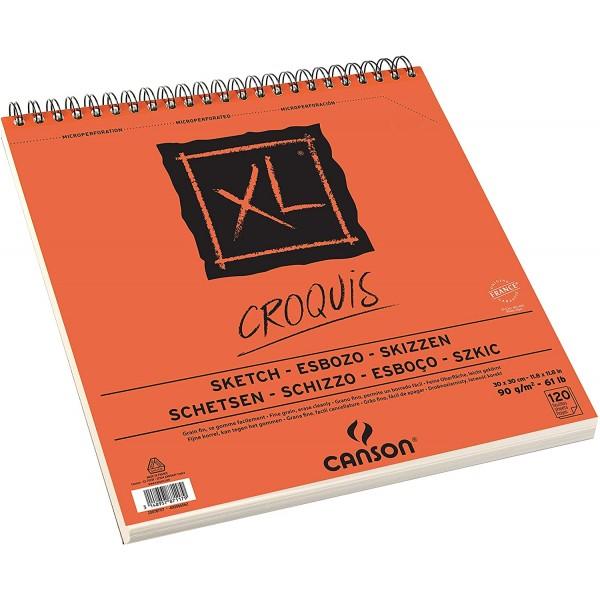 Skiču bloks Canson XL ''Croquis'',  30x 30 cm