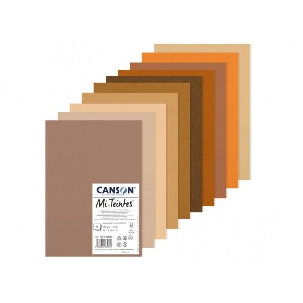 Pasteļu papīra komplekts Canson Mi-Teintes A4,Brown tones
