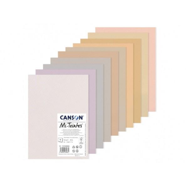 Pasteļu papīra komplekts Canson Mi-Teintes A3, Pastel tones