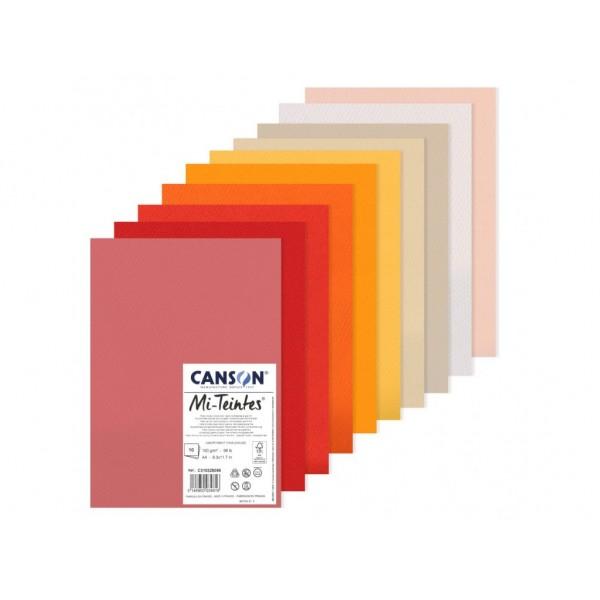 Pasteļu papīra komplekts Canson Mi-Teintes A4, Warm Tones