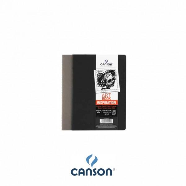 Canson Inspiration Art BookTM; 14,8 x 21 cm ; Black + Dark grey