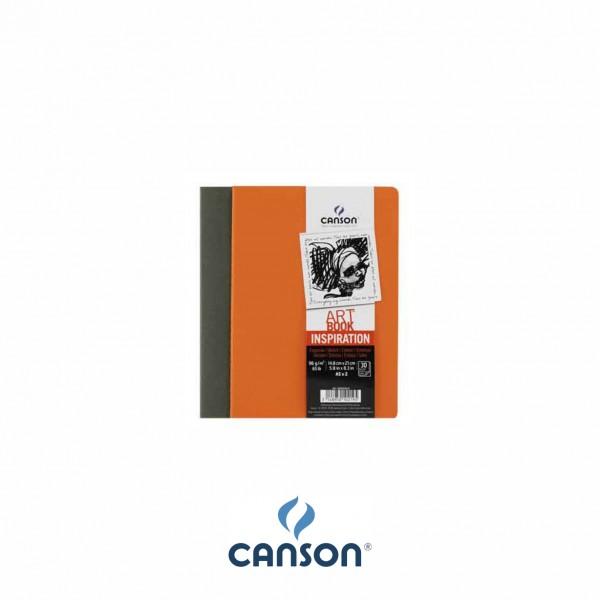 Canson Inspiration Art BookTM; 14,8 x 21 cm ; Ivy + Orange