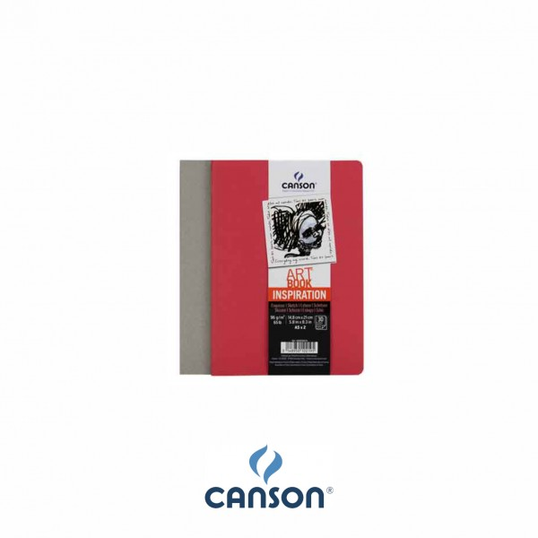Canson Inspiration Art BookTM; 10,5 x 14,8 cm ; Winelees + Red earth