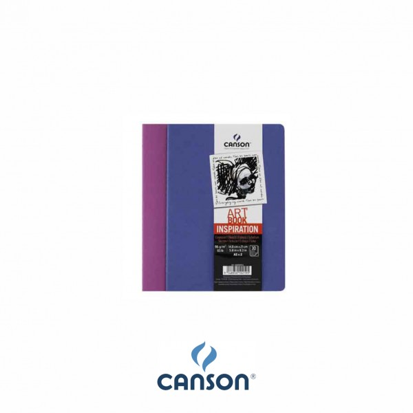 Canson Inspiration Art BookTM; 10,5 x 14,8  cm ; Ultramarine + Violet