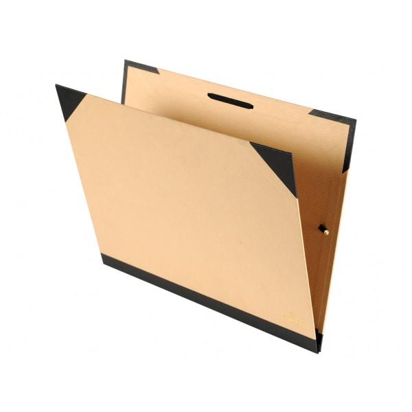 Kartona Mape Canson Trendy  32x45 cm ar gumiju kartona, brūna