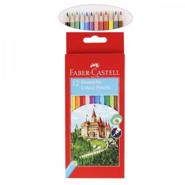 Krāsainie zīmuļi ar bruņinieku pili 12 krāsas