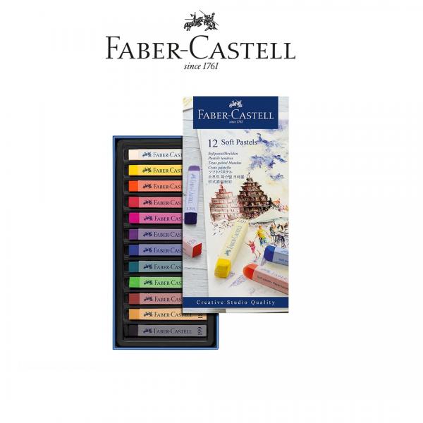 Sausie pasteļi Faber-Castel, 12 krāsas