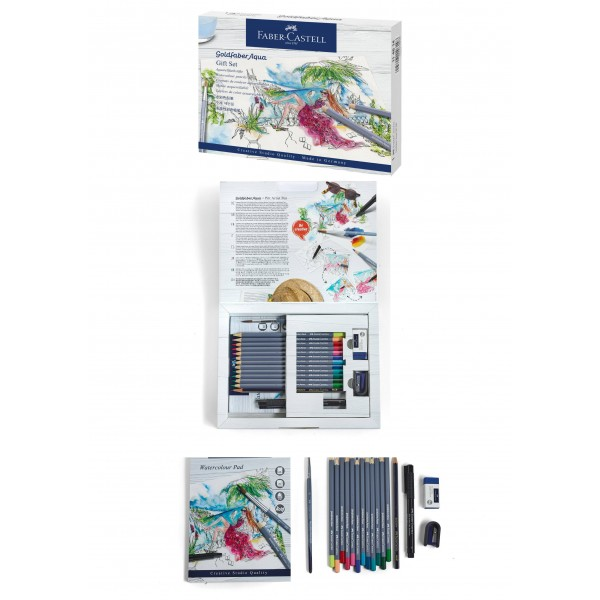 Akvareļzīmuļu dāvanu komplekts Faber Castell Golfaber Aqua