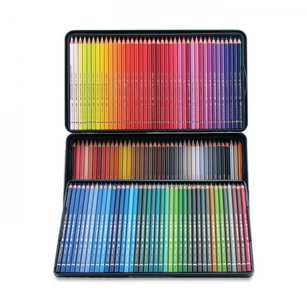 Polihromie zīmuļi Faber-Castell metāla penālī, 120 krāsas