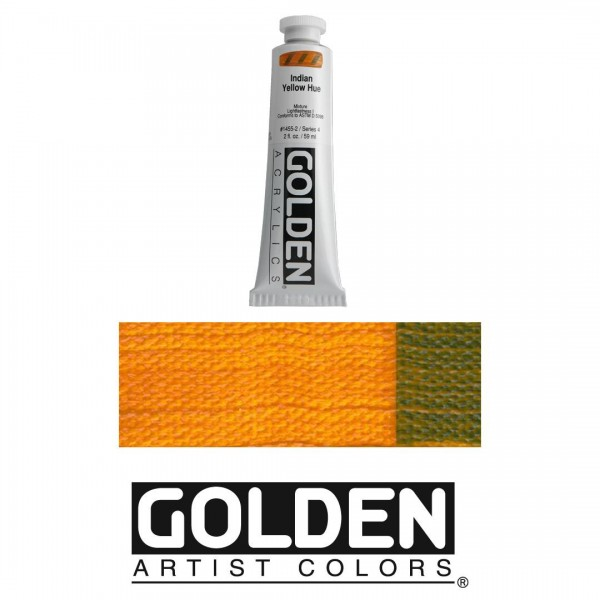 Akrila Krāsa GOLDEN ACRYLIC HEAVY BODY  Indian Yellow Hue  59ml