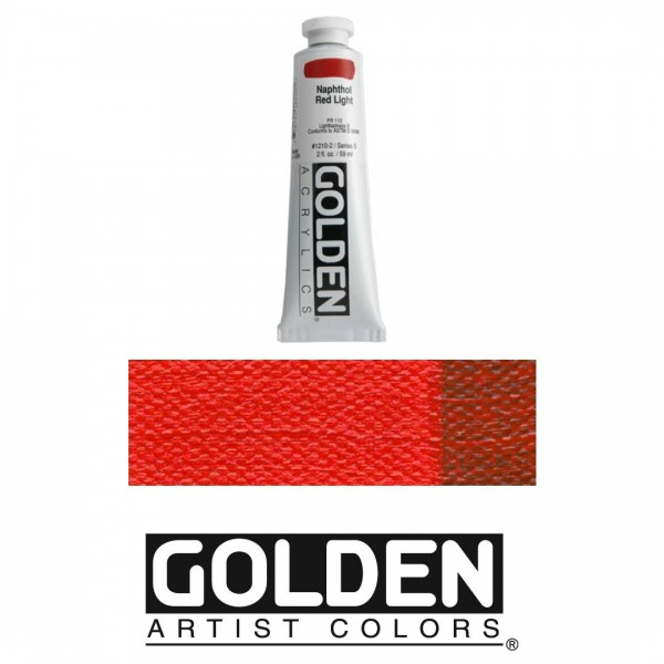 Akrila Krāsa GOLDEN ACRYLIC HEAVY BODY Naphthol Red Light 59ml