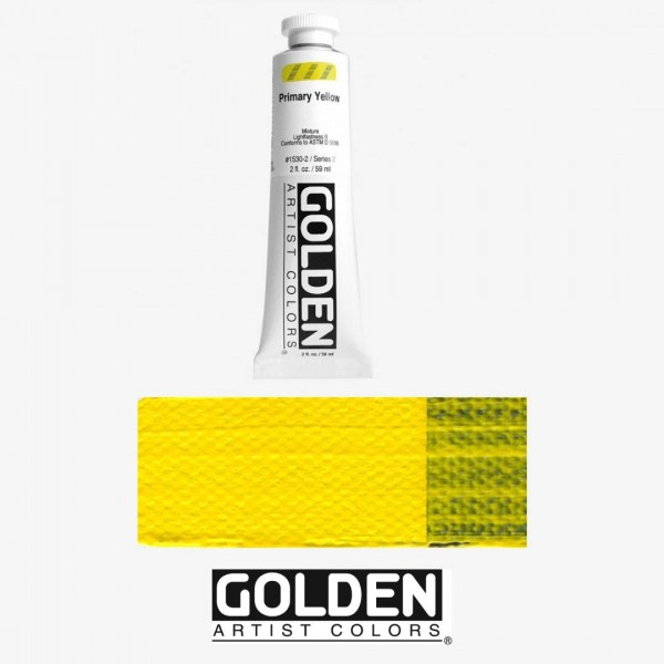 Akrila Krāsa GOLDEN ACRYLIC HEAVY BODY Primary Yellow  59ml