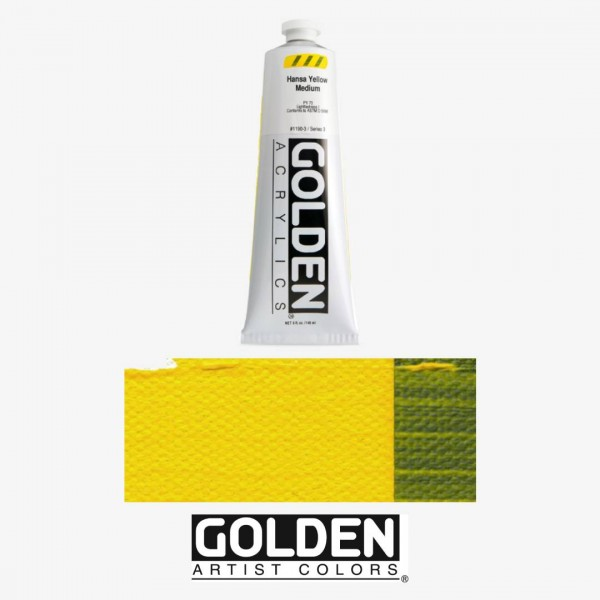 Akrila Krāsa GOLDEN ACRYLIC HEAVY BODY  Hansa Yellow Medium 59ml