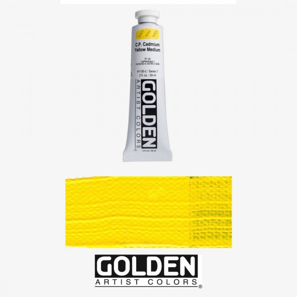 Akrila Krāsa GOLDEN ACRYLIC HEAVY BODY  CP Cadmium Yellow Medium 59ml