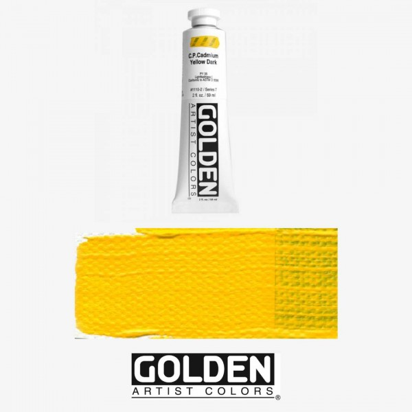 Akrila Krāsa GOLDEN ACRYLIC HEAVY BODY  CP Cadmium Yellow Dark  59ml