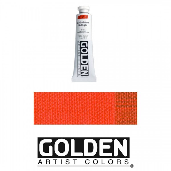 Akrila Krāsa GOLDEN ACRYLIC HEAVY BODY CP Cadmium Red Light 59ml