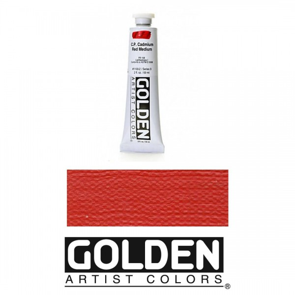 Akrila Krāsa GOLDEN ACRYLIC HEAVY BODY CP Cadmium Red Medium 59ml