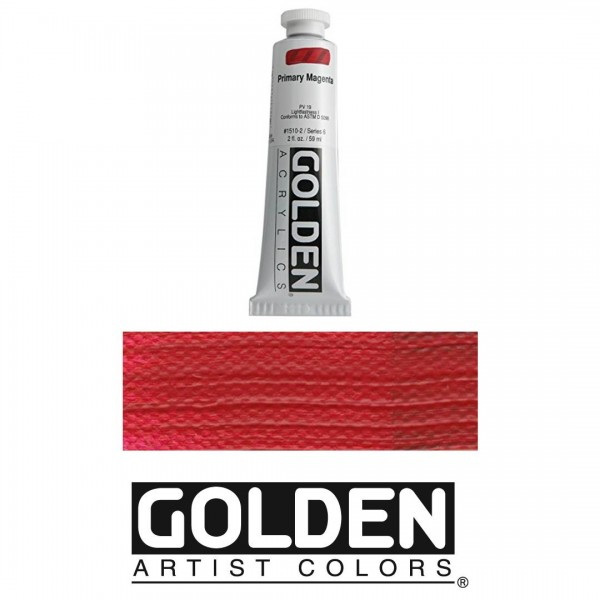 Akrila Krāsa GOLDEN ACRYLIC HEAVY BODY Primary Magenta 59ml