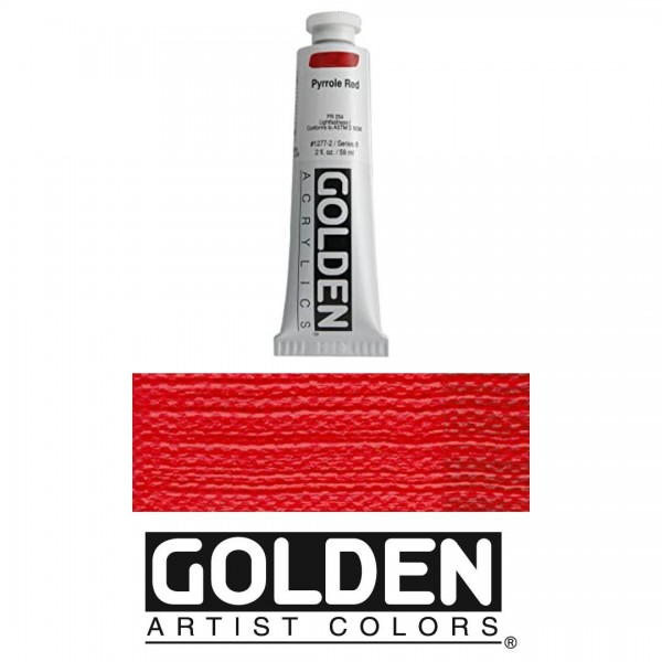 Akrila Krāsa GOLDEN ACRYLIC HEAVY BODY CP Pyrrole Red  59ml