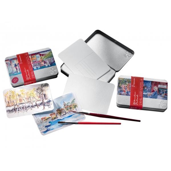 Pastkartes ūdenskrāsām Hahnemuhle ar metāla kasti, rough